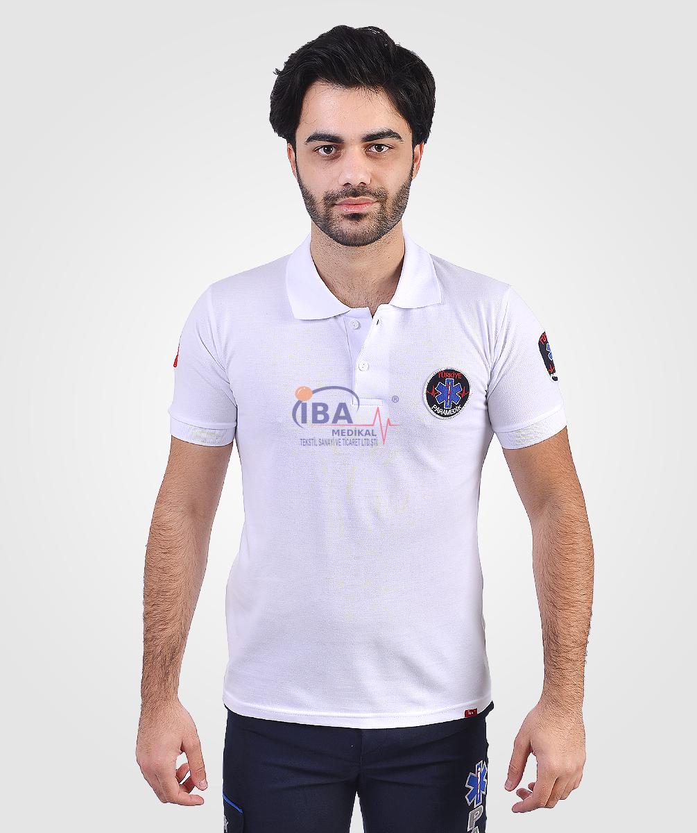 Yeni Paramedik Beyaz Tişört   Paramedik Kıyafetleri