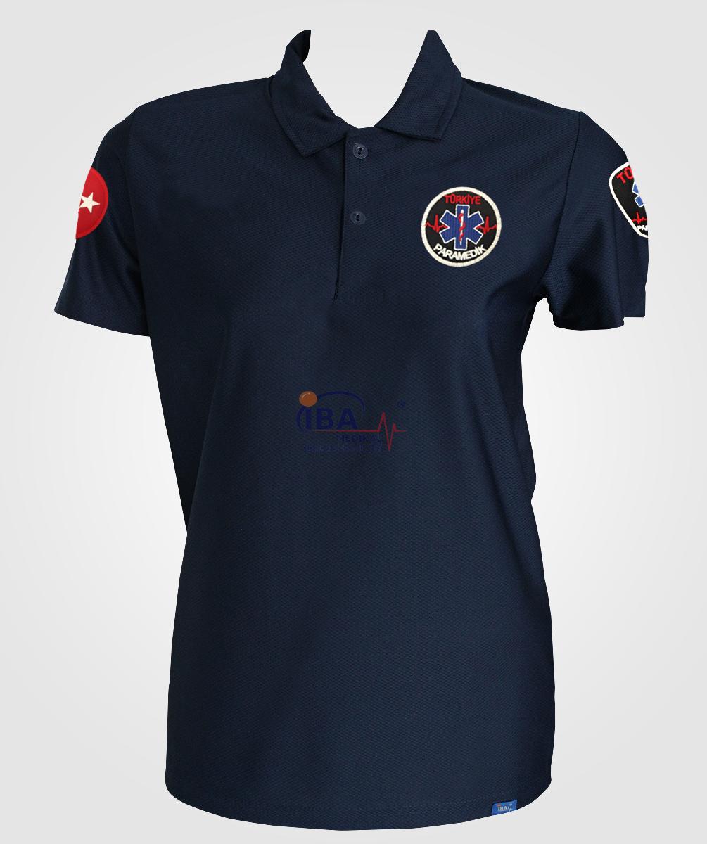 Paramedik T-shirt Comfort Polo Yaka Lacivert | Paramedik Kıyafetleri