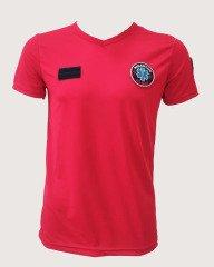 Kırmızı V Yaka Paramedik T-shirt