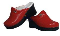 Topuklu Sabo Terlik Kırmızı | Hemşire Terliği | 112giyim.com
