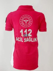 112 Çift Renk Kırmızı Beyaz T-shirt
