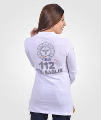 112 Tunik T-shirt Lacost Beyaz | 112 Kıyafetleri | 112giyim.com