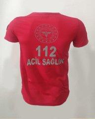 112 V Yaka Kırmızı Comfort T-shirt | 112 T-shirt Çeşitleri