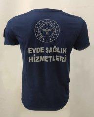Evde Sağlık Lacivert V Yaka Comfort T-shirt