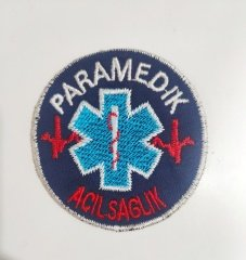 Paramedik Arması - Nakışlı | Logo - Patch(PEÇ) - Apolet - Kokart