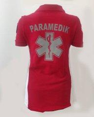 Paramedik Kırmızı-Beyaz T-shirt | Paramedik Kıyafetleri