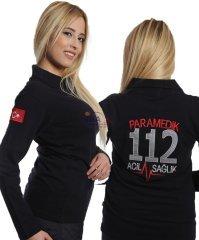 Paramedik Uzun Kollu Tişört Lacivert | Paramedik Kıyafetleri