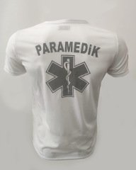 Paramedik V Yaka Beyaz Comfort T-shirt | 112giyim